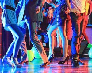 Night club dancing party
